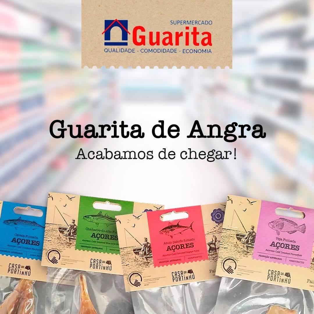 Embalagens de peixe fumado, produzido nos Açores, à venda em todos os supermercados guarita.